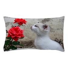 Kitten and flowers Pillow Case