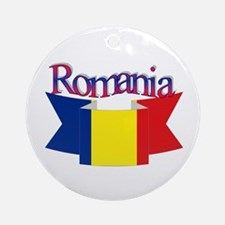 The Romanian flag Ornament (Round)