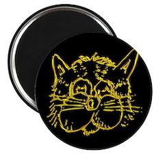 Gold Cat Face Magnet