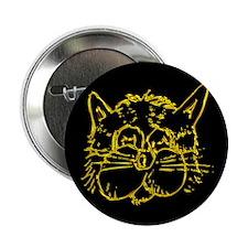 Gold Cat Face Button