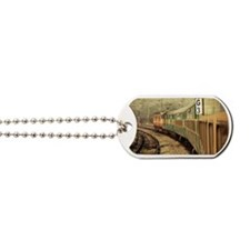 Train moving along track Dog Tags