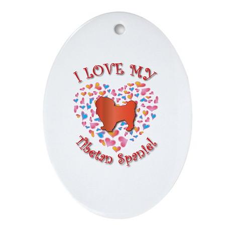 Love Tibbie Oval Ornament