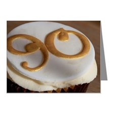 Cupcake for a 90th birthday Note Cards (Pk of 10)