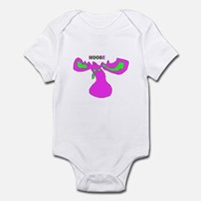 Pink and Green Moose Infant Bodysuit