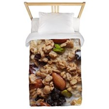 Oatmeal With Topping Twin Duvet