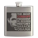 Anti obama Flask Bottles