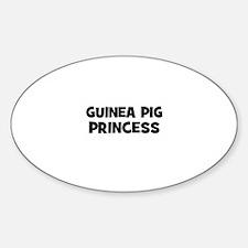 guinea pig princess Oval Decal