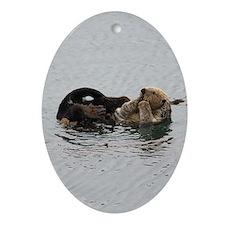 California Sea Otter Ornament (Oval)