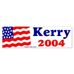 American Flag Kerry 2004 Bumper Bumper Sticker