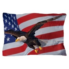 Eagle and flag Pillow Case