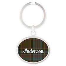 Anderson Tartan Oval Keychain