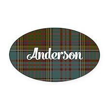 Anderson Tartan Oval Car Magnet