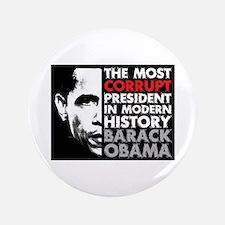 "Most Corrupt President 3.5"" Button"