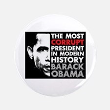 """Most Corrupt President 3.5"""" Button (100 pack)"""