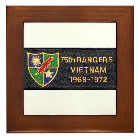 75th Rangers Framed Tile