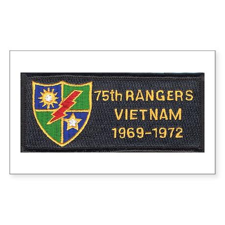 75th Rangers Rectangle Sticker