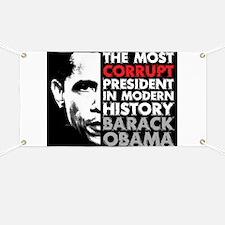Most Corrupt President Banner