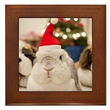 Chinese bunny rabbit Framed Tile