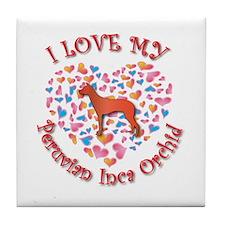 Love PIO Tile Coaster