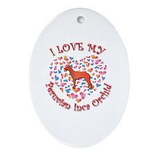 Love PIO Oval Ornament