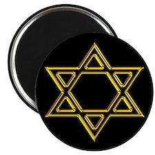 "Gold Star of David 2.25"" Magnet (10 pack)"