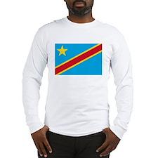 Zaire Flag T Shirts Long Sleeve T-Shirt
