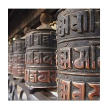 Prayer wheels Tile Coaster