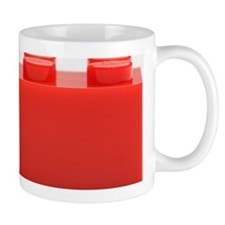 Plastic block on white background Mug