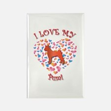 Love Pumi Rectangle Magnet