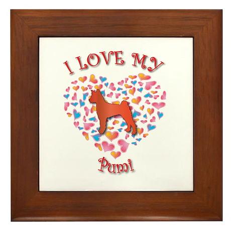 Love Pumi Framed Tile