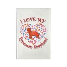 Love Pyrenean Rectangle Magnet