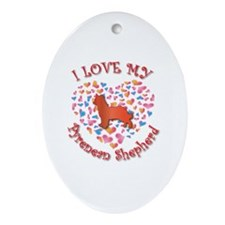 Love Pyrenean Oval Ornament