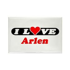 I Love Arlen Rectangle Magnet