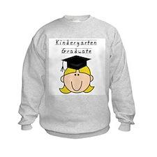 Girl Kindergarten Grad (blond) Sweatshirt