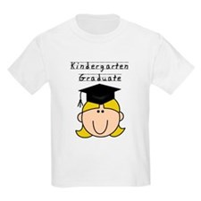 Girl Kindergarten Grad (blond) T-Shirt