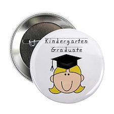 Girl Kindergarten Grad (blond) Button