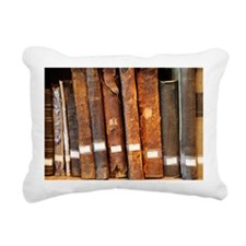 Old books in library Rectangular Canvas Pillow