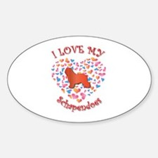 Love Schapendoes Oval Decal