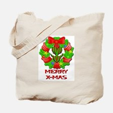 Christmas Wreath Alien Tote Bag