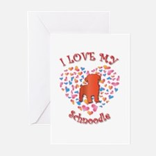 Love Schnoodle Greeting Cards (Pk of 10)