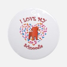 Love Schnoodle Ornament (Round)
