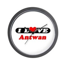 I Love Antwan Wall Clock