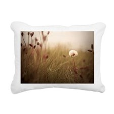 Dandelion surrounded by  Rectangular Canvas Pillow