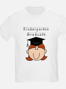 Girl Kindergarten Grad (redhead) T-Shirt