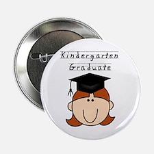 Girl Kindergarten Grad (redhead) Button