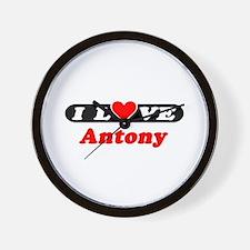 I Love Antony Wall Clock
