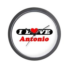 I Love Antonio Wall Clock