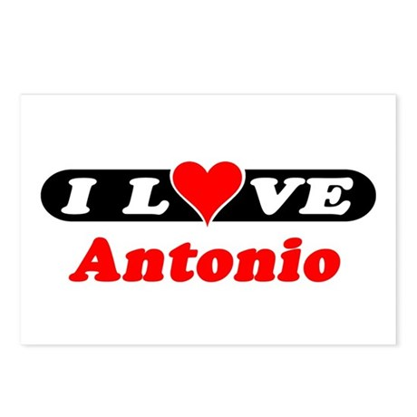 I Love Antonio Postcards (Package of 8)
