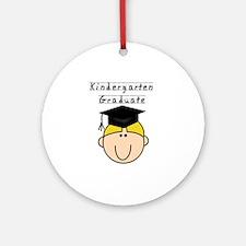 Boy Kindergarten Grad (blond) Ornament (Round)