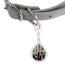 Chef's Knives Small Teardrop Pet Tag
